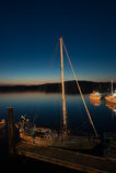 Βάρκα τη νύχτα Στοκ φωτογραφία με δικαίωμα ελεύθερης χρήσης