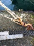 Βάρκα Τουρκία θάλασσας σχοινιών Στοκ εικόνες με δικαίωμα ελεύθερης χρήσης