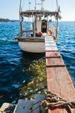 Βάρκα του Φίσερ σε Porec, Κροατία Στοκ φωτογραφίες με δικαίωμα ελεύθερης χρήσης