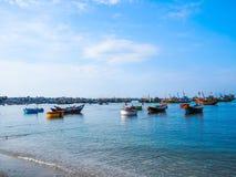 Βάρκα του ψαρά του Βιετνάμ Στοκ Φωτογραφίες