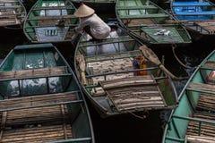 Βάρκα υπόλοιπου κόσμου tam coc Στοκ Εικόνες