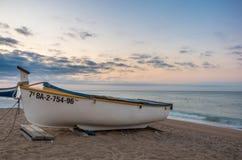 Βάρκα ψαριών στην ακτή Στοκ εικόνες με δικαίωμα ελεύθερης χρήσης
