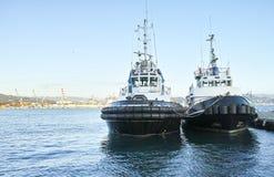 Βάρκα δύο ρυμουλκών Στοκ φωτογραφίες με δικαίωμα ελεύθερης χρήσης
