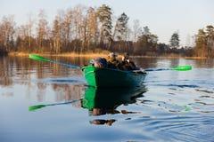 βάρκα δύο Στοκ Εικόνες