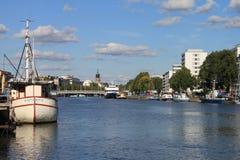 Βάρκα Aurojoki Στοκ Εικόνες