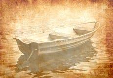 βάρκα grunge Στοκ Φωτογραφίες