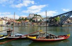 Βάρκα Rabelo, Πόρτο, Πορτογαλία Στοκ φωτογραφίες με δικαίωμα ελεύθερης χρήσης