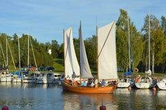 Βάρκα Sailng Στοκ Εικόνες