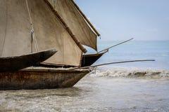 Βάρκα Zanzibar ψαράδων Στοκ Φωτογραφία