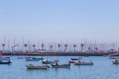 Βάρκες αλιείας στο ναυτικό ακτών Στοκ Εικόνες
