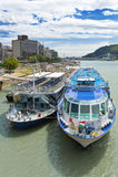 βάρκες Βουδαπέστη Δούνα&bet Στοκ Φωτογραφία