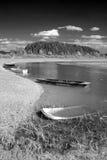 βάρκες β κάτω από το ύδωρ W Στοκ Φωτογραφίες