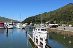 Βάρκες και γιοτ, μαρίνα Havelock, νότιο νησί, Νέα Ζηλανδία Στοκ φωτογραφίες με δικαίωμα ελεύθερης χρήσης