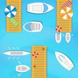 Βάρκες και γιοτ διανυσματική απεικόνιση
