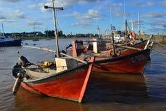 Βάρκες και σύννεφα Στοκ Εικόνες