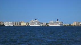 Βάρκες κρουαζιέρας του San Juan Peurto Rico Στοκ εικόνα με δικαίωμα ελεύθερης χρήσης