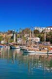 Βάρκες κρουαζιέρας Gulet στην παλαιά πόλη Kaleici Antalya Τουρκία Στοκ Εικόνες