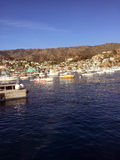 Βάρκες μακριά της Catalina Island Στοκ Φωτογραφίες