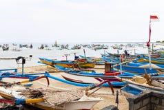 βάρκες παραλιών του Μπαλί & Στοκ εικόνα με δικαίωμα ελεύθερης χρήσης
