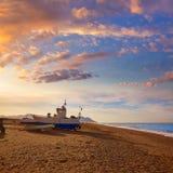 Βάρκες παραλιών της Αλμερία Cabo de Gata SAN Miguel Στοκ φωτογραφία με δικαίωμα ελεύθερης χρήσης