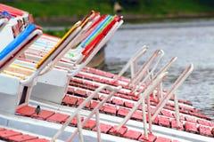 Βάρκες πενταλιών καθισμάτων Στοκ Εικόνες
