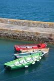 Βάρκες που δένονται στη μαρίνα Στοκ Εικόνες