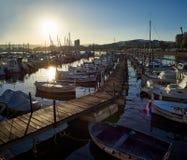 Βάρκες που δένονται στο λιμένα Palamos girona Ισπανία Στοκ Φωτογραφία