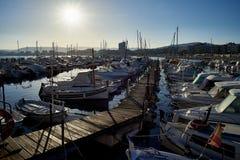 Βάρκες που δένονται στο λιμένα Palamos girona Ισπανία Στοκ φωτογραφία με δικαίωμα ελεύθερης χρήσης