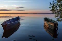 βάρκες που αλιεύουν παλαιά δύο Στοκ Φωτογραφία