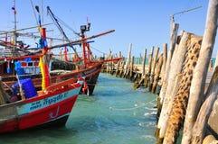 βάρκες που αλιεύουν την & Στοκ Εικόνες