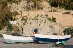 βάρκες που αλιεύουν το ζευγάρι Στοκ Εικόνες