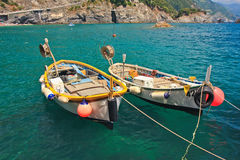 βάρκες που αλιεύουν το λιμάνι δύο Στοκ φωτογραφία με δικαίωμα ελεύθερης χρήσης