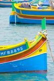 βάρκες που αλιεύουν marsaxlokk Στοκ Εικόνα