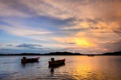 βάρκες που αλιεύουν δύ&omicron Στοκ εικόνα με δικαίωμα ελεύθερης χρήσης