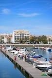 Βάρκες που δένονται στη μαρίνα του Λάγκος, Πορτογαλία Στοκ Φωτογραφίες