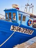 Βάρκες που δένονται στο λιμάνι αλιείας Palamos girona Ισπανία στοκ εικόνα