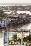 Βάρκες που διασχίζουν Mekong τον ποταμό στο Tho μου, Βιετνάμ στοκ φωτογραφία με δικαίωμα ελεύθερης χρήσης