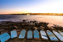 Βάρκες που σταθμεύουν στην παραλία Στοκ Εικόνα