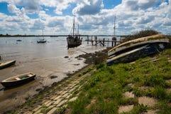 Βάρκες που στηρίζονται στη λεκάνη Heybridge Στοκ Εικόνες