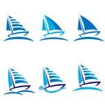 βάρκες που τίθενται απεικόνιση αποθεμάτων