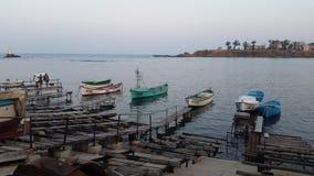 Βάρκες σε Μαύρη Θάλασσα Στοκ Εικόνες