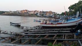 Βάρκες σε Μαύρη Θάλασσα Στοκ εικόνες με δικαίωμα ελεύθερης χρήσης