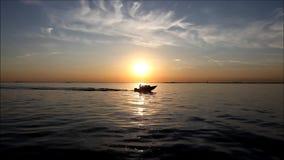 Βάρκες στα κανάλια απόθεμα βίντεο