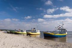 Βάρκες στην παραλία Στοκ Εικόνα