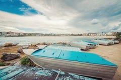 Βάρκες στην παραλία Bondi Στοκ εικόνα με δικαίωμα ελεύθερης χρήσης