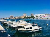 Βάρκες στην πόλη Zadar στοκ φωτογραφία με δικαίωμα ελεύθερης χρήσης