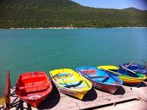 Βάρκες στη λίμνη Στοκ Φωτογραφία