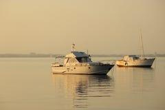 Βάρκες στη θάλασσα, Μαγιόρκα, Ισπανία Στοκ Εικόνες