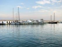 Βάρκες στη μαρίνα στην ομάδα Στοκ εικόνες με δικαίωμα ελεύθερης χρήσης