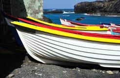Βάρκες στις αλυκές Στοκ Φωτογραφίες